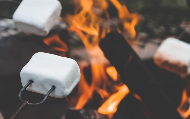 kampvuur marshmallows
